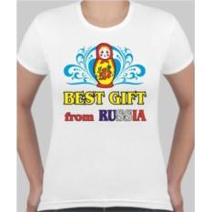 Женская футболка Best gift from Russia