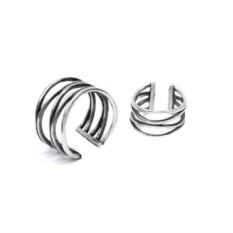 Кольца на фаланги пальцев Паутинки (серебро, 925)