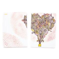 Обложка для паспорта Сердце