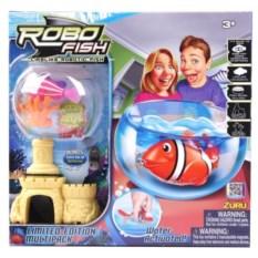 Игрушка РобоРыбка с 2 кораллами, замком, аквариумом Robofish