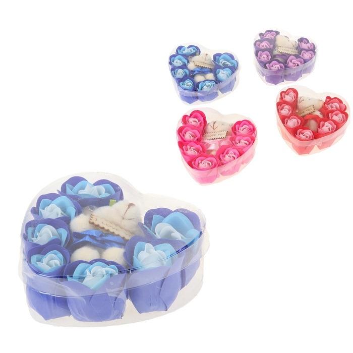 Набор мыла с игрушкой Сердечный микс