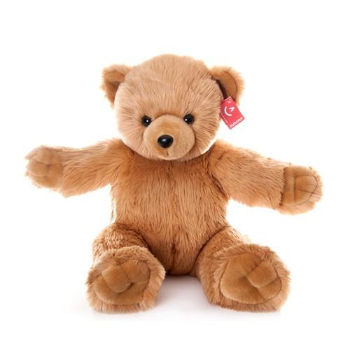 Коричневая мягкая игрушка Aurora Медведь.Обними меня