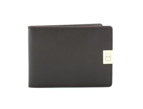 Тонкий коричневый кошелек Dun Wallet Brown