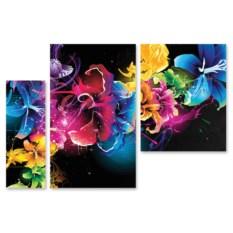 Модульная картина Абстрактные цветы