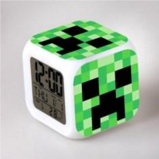 Часы-будильник хамелеон Minecraft