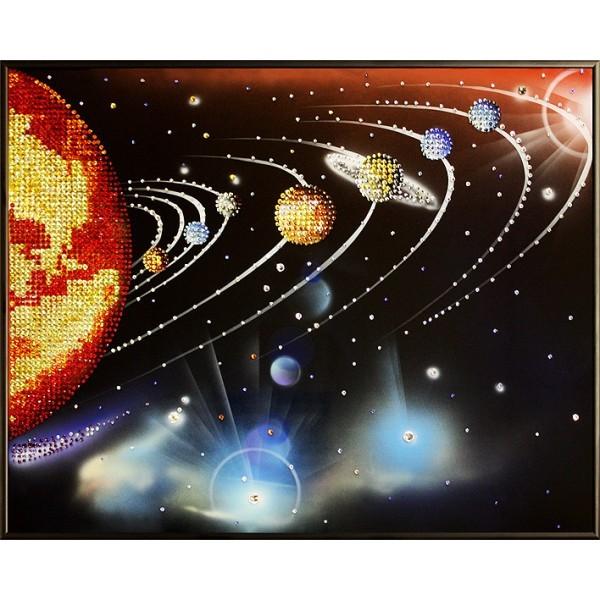 Картина с кристаллами Swarovski Парад планет 2