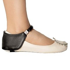 Автопятка из натуральной кожи для женской обуви без каблука
