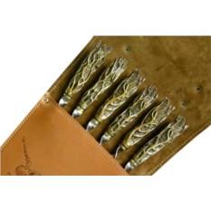 Набор с шампурами с рукоятью из бронзы Корни