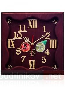 Настенные часы, деревянные, 30 см, бордо