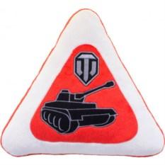 Треугольная подушка с логотипом игры World of Tanks