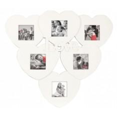 Мультирамка с вашим фото «Сердечки»