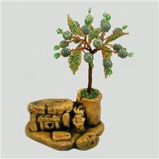 Дерево счастья из змеевика, оберегающее дольмен