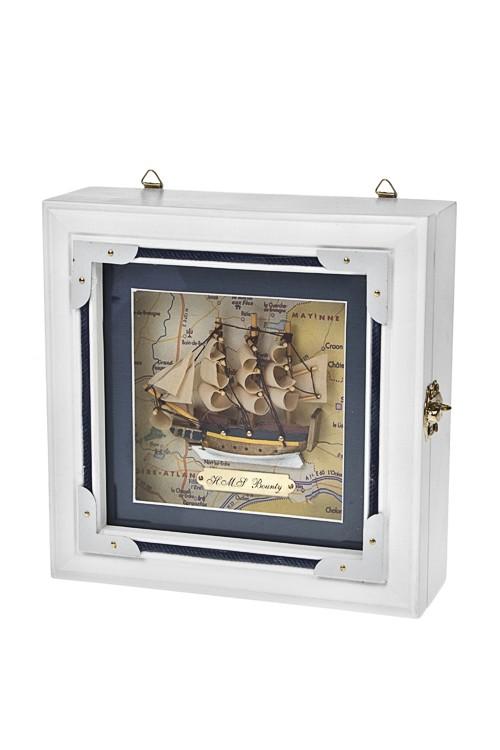 Ящик для ключей Счастливый корабль