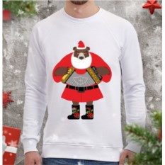 Мужской свитшот Медведь-Дед Мороз
