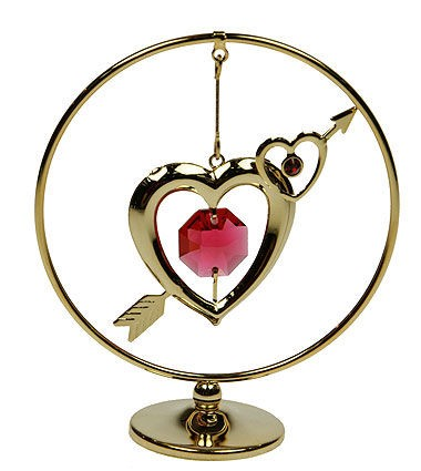 Фигурка с кристаллами Swarovski Сердце на подвеске