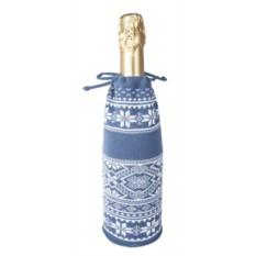 Чехол для шампанского «Скандик» (цвет — серо-синий)