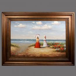 Картина «Прогулка», холст, масло