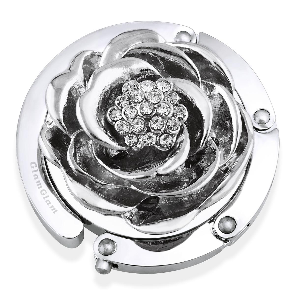 Держатель для сумки Роза, серебряная