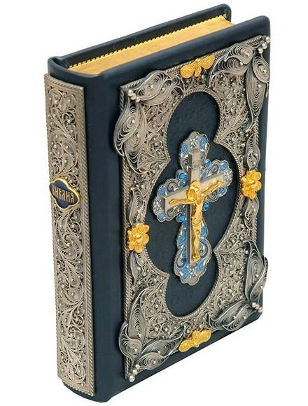 Библия (скань с зол. обрезом)