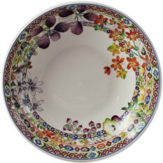 Фаянсовая глубокая тарелка Gien Багатель