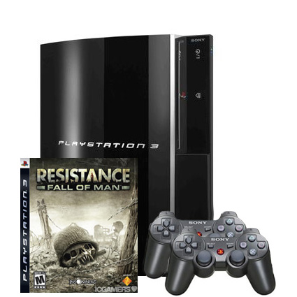PlayStation 3 RUS (40Gb) + Джостик + Resistance