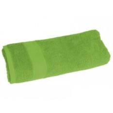Зеленое махровое полотенце