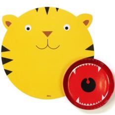 Сервировочный коврик и миска Hungry tiger