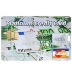 Флешка-кредитка Platinum Credit Card EUR (4 Гб)