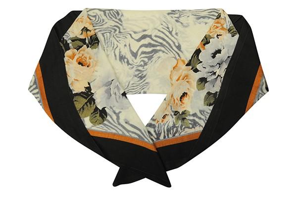 Серый женский платок Leo Ventoni (шерсть)