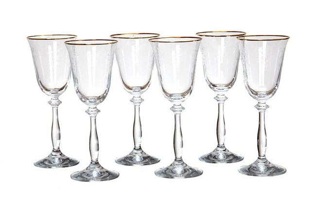 Набор 6 бокалов для вина 185 мл Crystalex Анжела