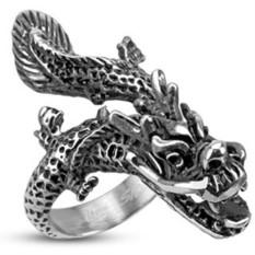 Кольцо из стали SPIKES Дракон