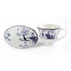 Чайный набор Павлин (чашка, блюдце)