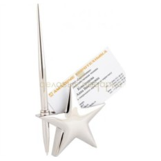 Подставка для визиток с ручкой