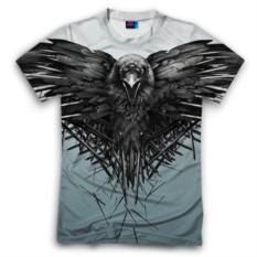 Мужская футболка 3D с полной запечаткой Ворон