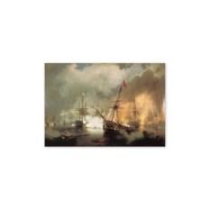 Репродукция Морское сражение при Наварине