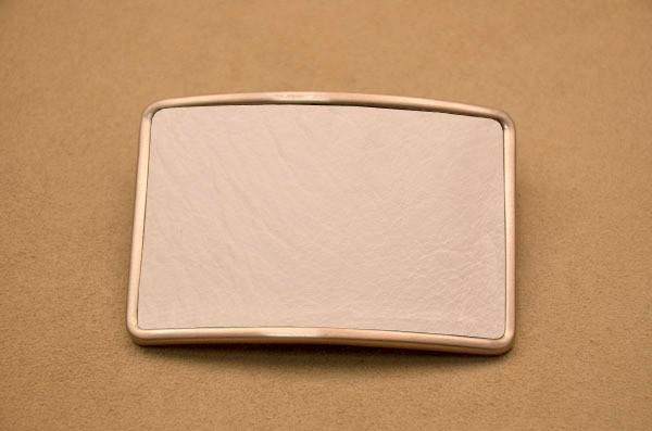 Пряжка для ремня с кожаной вставкой G.Design (белый)