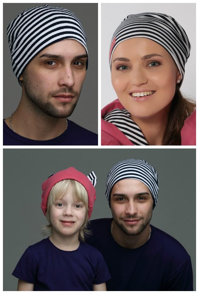 Комплект шапок Lisbon для мамы, папы и ребенка