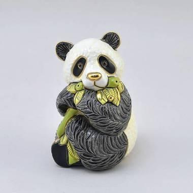 Керамическая статуэтка с позолотой Панда