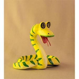 Фигурка из дерева Змейка с большими глазами