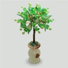 Дерево из хризолита и бисера Нежность
