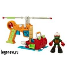 Фигурка Черепашки-ниндзя Раф с вертолетом