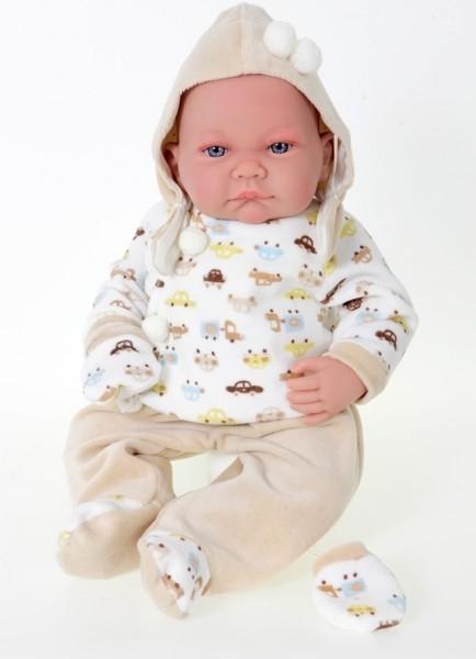 Озвученная кукла-младенец Ника в бежевом