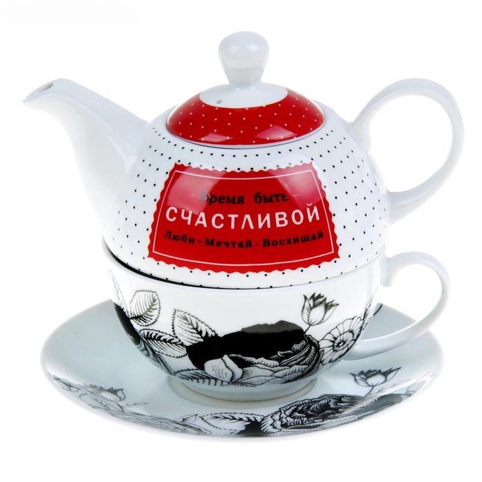 Подарочный чайный набор на 1 персону «Время быть счастливой»