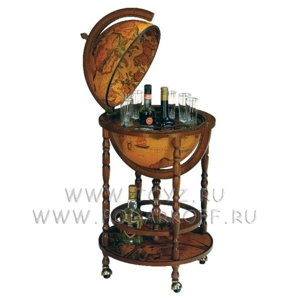 Глобус-бар с подставкой для бутылок