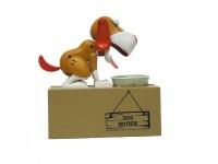 Интерактивная копилка «Голодный пес», коричневый