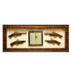 Настенные часы-панно с декоративными пистолетами