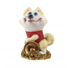 Декоративная фигурка с рогом изобилия Собака
