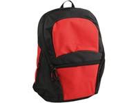 Рюкзак с 1 отделением и карманом на молнии, красный