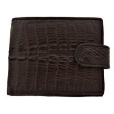 Коричневый мужской кошелек из кожи каймана с монетницей