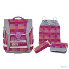 Серо-розовый школьный ранец McNeill Ergo Light Compact